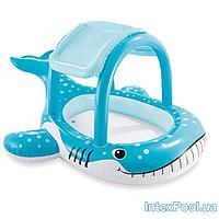 Детский надувной бассейн Кит Intex 57125, голубой, 211 х 185 х 109 см, с навесом, фото 1