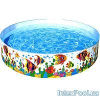 Бассейн детский каркасный Intex 56453 Океанский риф, 244 х 46 см