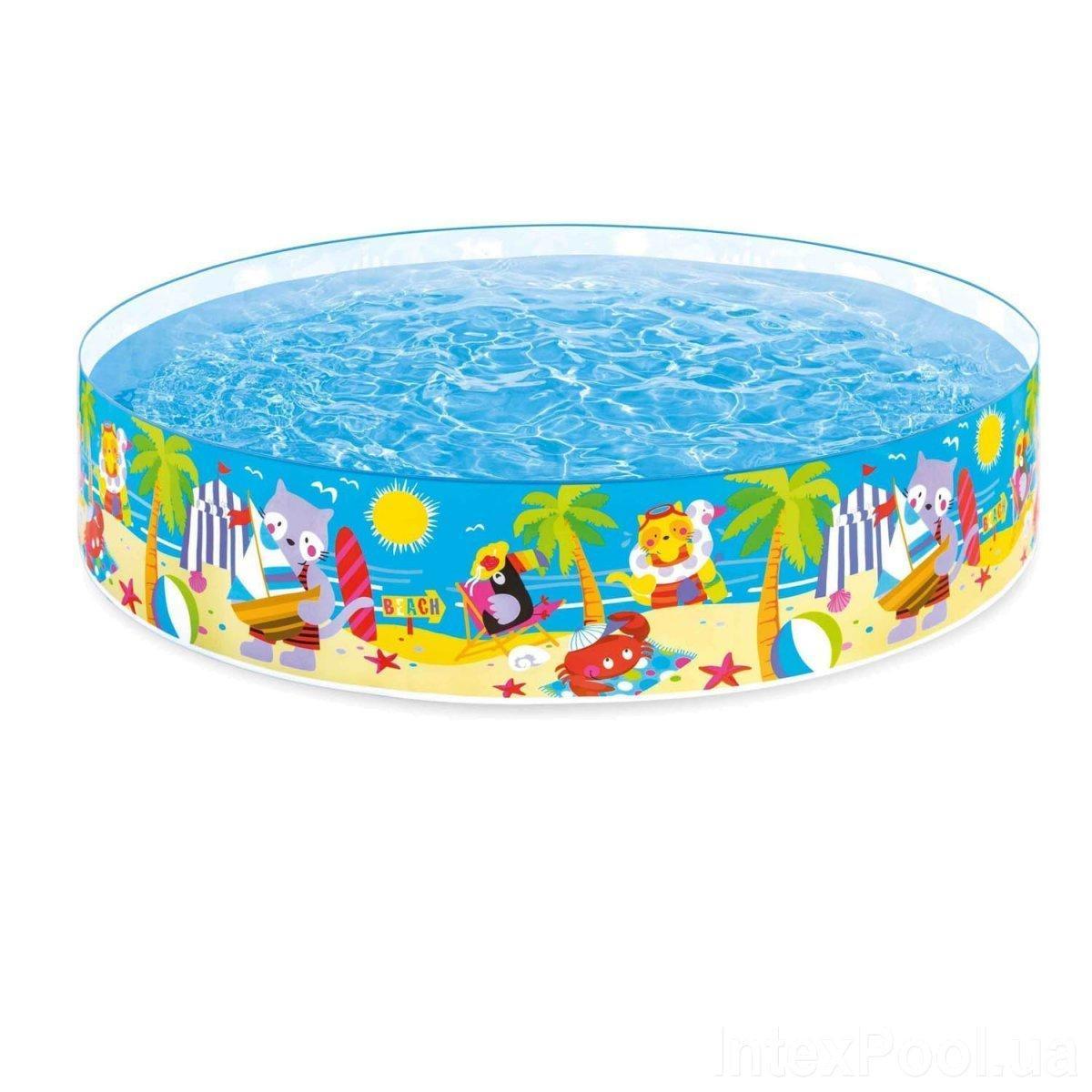 Бассейн детский каркасный Intex 58457 Пляжные друзья, 244 х 46 см