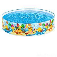 Детский каркасный бассейн Intex 58477 Утинный риф, 122 х 25 см