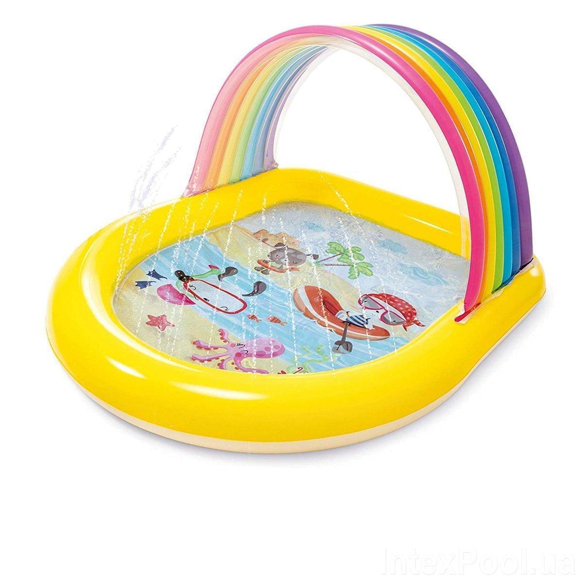 Детский надувной бассейн Intex 57156 Радуга, 147 х 130 х 86 см
