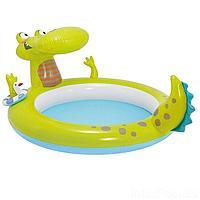 Детский надувной бассейн Intex 57431 Крокодил, 198 х 160 х 91 см, с фонтаном