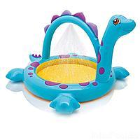 Детский надувной бассейн Intex 57437 Динозавр, 230 х 165 х 117 см, с фонтаном