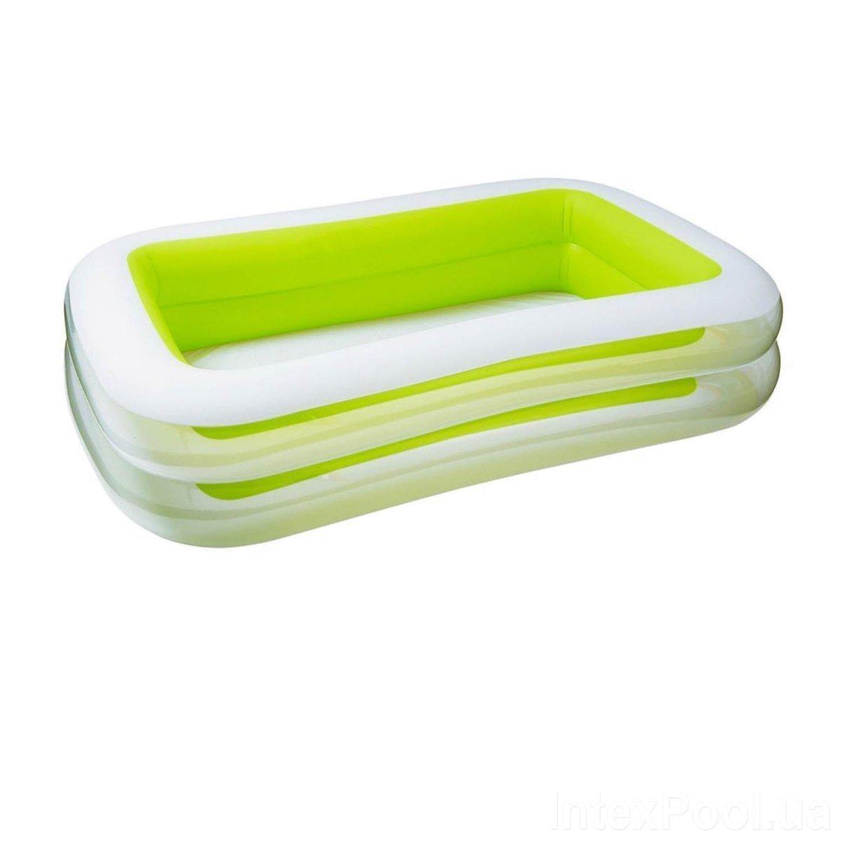 Детский надувной бассейн Intex 56483, зеленый Морская волна, 262 х 175 х 56 см