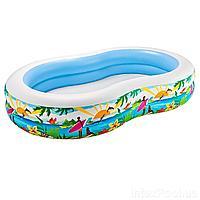 Детский надувной бассейн Intex 56490 Райская Лагуна, 262 х 160 х 46 см