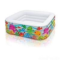 Детский надувной бассейн Intex 57471 Аквариум, 159 х 159 х 50 см