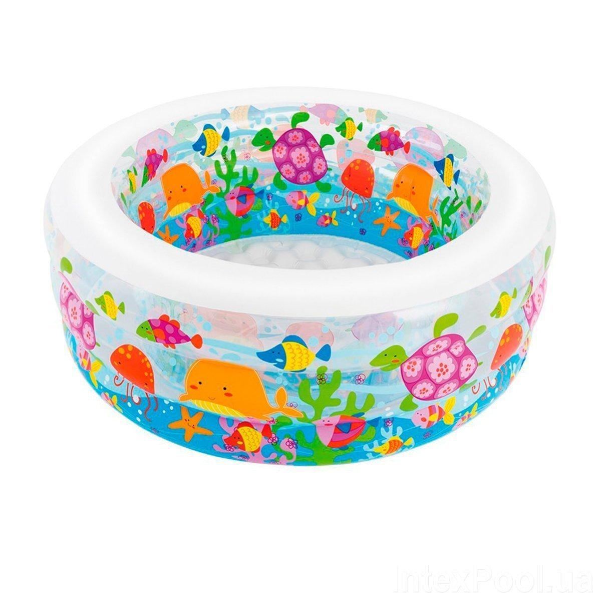 Детский надувной бассейн Intex 58480 Аквариум, 152 х 56 см