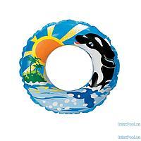 Детский надувной круг для плавания Intex 58245 Дельфины, 61 см