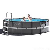 Каркасный бассейн Intex 26326 - 1, 488 x 122 см (лестница, тент, подстилка)