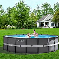 Каркасный бассейн Intex 26326 - 11, 488 x 122 см (5 г/ч, 6 000 л/ч, набор, лестница, тент, подстилка)