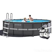 Каркасный бассейн Intex 26326, 488 x 122 см (4 500 л/ч, лестница, тент, подстилка)