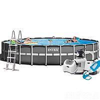 Каркасный бассейн Intex 26340 - 12, 732 x 132 см (12 г/ч, 10 000 л/ч, лестница, набор, тент, подстилка)