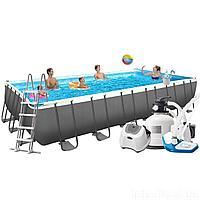 Каркасный бассейн Intex 26368 - 16, 732 х 366 х 132 см (150мг/11 г/ч, 12 000 л/ч, набор, лестница, тент, подстилка, сетка)