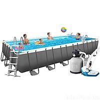 Каркасный бассейн Intex 26368, 732 х 366 х 132 см  (7 г/ч - 6 000 л/ч, набор, лестница, тент, подстилка, сетка)