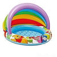 Детский надувной бассейн Intex 57424  Винни Пух c навесом, 102 х 69 см