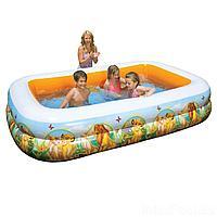 Детский надувной бассейн Intex 57492 Король Лев 265 х 175 х 56 см