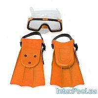 Набор для плавания Bambi M 0755, ласты, очки, EUR (37-41), 23-26 см