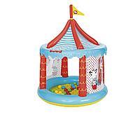 Надувной игровой домик Bestway 93505 Цирк, 137 х 104 см, с шариками 25 шт