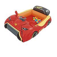 Надувной игровой центр - кровать Bestway 93404, Тачки 135 х 99 х 43 см, шариками 25 шт