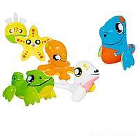 Надувной набор игрушек 6 в 1 Bestway 34030-6 Зверюшки