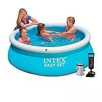 Надувной бассейн Intex 28101 - 3, 183 х 51 см (1 250 л/ч, насос, подстилка)