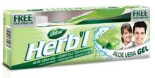 Зубная паста Dabur Herb'l Aloe Vera с экстрактом алое, 150 г. + зубная щетка в подарок