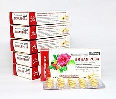 [Комплект из 6 пачек на 1 курс] Масло шиповника Дикая роза в капсулах, 6 * [15 шт. по 500 мг.]