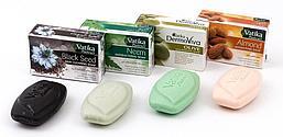 Комплект из 4 мыл от VATIKA DERMOVIVA: мыла с черным тмином, нимом, оливковым маслом и миндальным маслом
