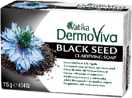 Мыло с маслом черного тмина VATIKA DermoViva Black Seed Soap, 115 г.