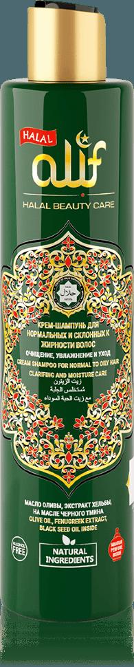 Крем-шампунь ALIF для нормальных и склонных к жирности волос «Очищение, увлажнение и уход», 350 мл.