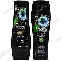 [Комплект: шампунь и кондиционер] VATIKA с черным тмином Сила и блеск, 200 мл.