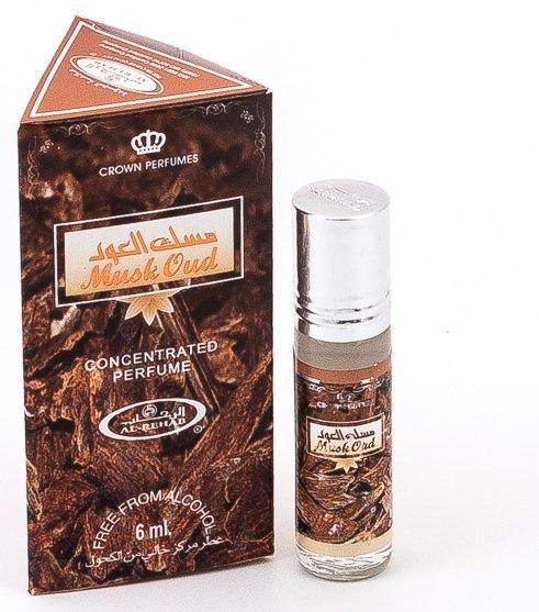 Арабские мужские масляные духи AL REHAB MUSK OUD, 6 мл.
