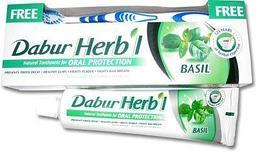 Зубная паста DABUR Herbal С базиликом, 150 г. + зубная щетка в подарок