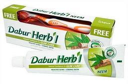 Зубная паста DABUR Herbal С экстрактом нима, 150 г. + зубная щетка в подарок