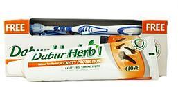 Зубная паста DABUR Herbal Гвоздика, 150 г. + зубная щетка в подарок