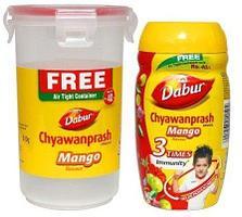 Аюрведический джем Чаванпраш Chawanprash Dabur со вкусом Манго, 500 г. + пластиковый стакан в подарок