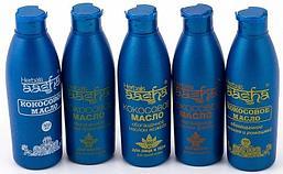 Комплект из 5 товаров Разнообразие кокоса от AASHA: кокосовые масла для волос, лица, рук и тела с различными натуральными добавками (с брингараджем +