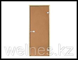 Дверь для бани Harvia STG, 7x19 (короб - сосна, стекло - бронза, ручка - защелка)