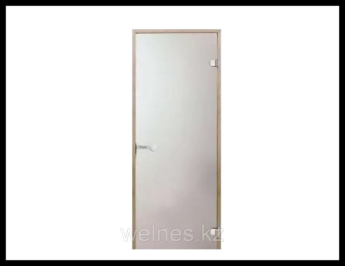 Дверь для бани Harvia STG, 7x19 (короб - сосна, стекло - сатин, ручка - защелка)