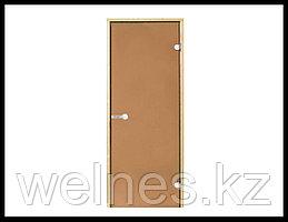 Дверь для бани Harvia STG, 7x19 (короб - осина/ольха, стекло - бронза, ручка - защелка)