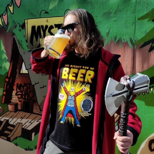 Футболка Тор - Бог пива
