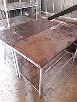 Столы бу. из толстой нерж стали 2х1; 1,5х0,8; итп, фото 1