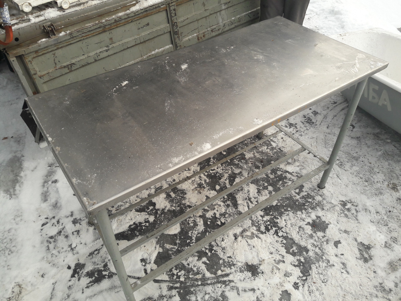Стол 1500х850х850 нерж, столешня толщиной 3мм