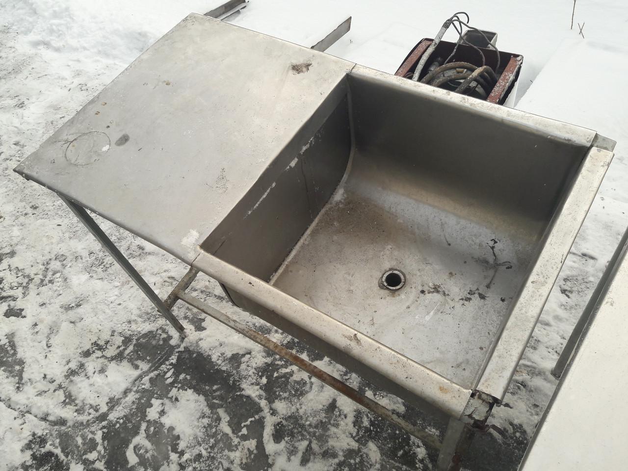 Ванна моечная одна секционная из толстой нерж. бу