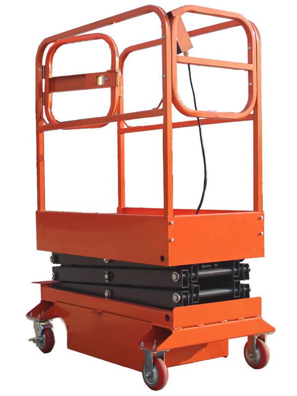 Подъемник ножничный TOR GTJY 240 кг 3 м (передвижной, полуэлектрический, автономный)