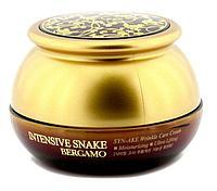 Омолаживающий крем с экстрактом змеиного яда BERGAMO Intensive Snake Wrinkle Care Cream