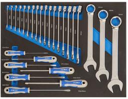 Набор комбинированных ключей и отверток, 27 предметов