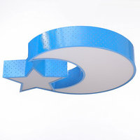 Люстра 'Ночное небо' LED 3 режима 72Вт синий 50х50х9 см
