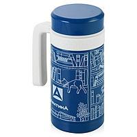 Кружка-термос ARCTICA с ручкой (0,5л)(10ч)(ситичко)(металл)-синий R 84542
