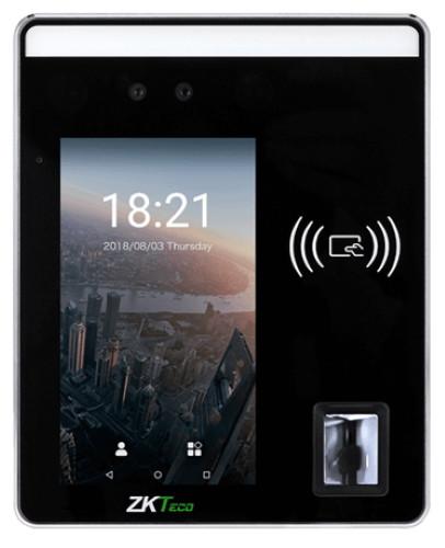 SpeedFace-H5 - Мультибиометрический (с распознавание лица, отпечатков пальцев, чтения карт) терминал контроля доступа с функциями учёта времени, посещ